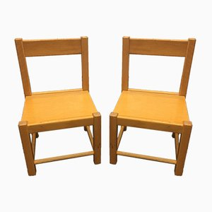 French School Chairs, 1970s, Set of 2