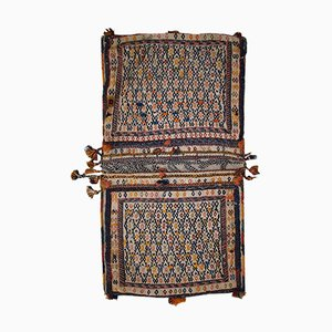 Antique Sumak Double Sadle Bag, 1940s