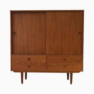 Vintage Swedish Teak Highboard from Royal Board