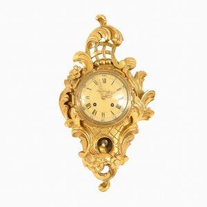 Reloj de pared Rococó antiguo, década de 1900