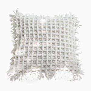 Coussin Honeycomb Blanc par Nieta Atelier
