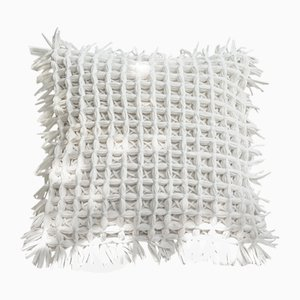 Honeycomb White Pillow by Nieta Atelier