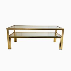 Rectangular French Aluminium Coffee Table by Pierre Vandel, 1970s