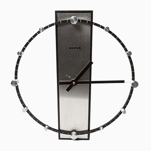 Vintage Steel & Aluminum Clock from Kiple, 1970s