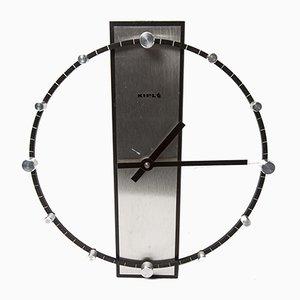 Vintage Uhr aus Stahl & Aluminium von Kiple, 1970er
