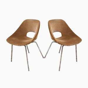 French Tulipe Chairs by Pierre Guariche for Steiner, 1950s, Set of 2