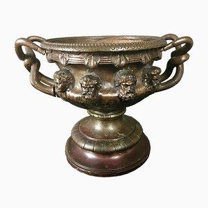 Warwick Vase oder Pflanzer aus Bronze, 19. Jh.