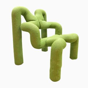 Vintage Green Lounge Chair by Terje Ekstrøm for Stokke Varier, 1970s