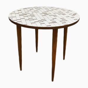 Table d'Appoint Vintage en Formica Imprimé Mosaïque, 1960s