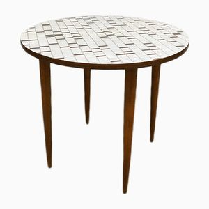 Vintage Mosaic Print Formica Side Table, 1960s