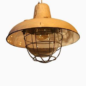 Große Fabriklampe mit Reflektor, 1950er