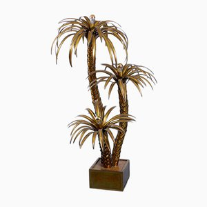 Large Brass Palm Tree Floor Light from Maison Jansen, 1970s