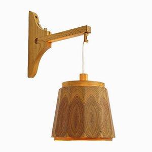 Schwedische Vintage Wandlampe aus Pinienholz