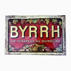Cartel BYHHR antiguo de hojalata de Violet Freres, años 10
