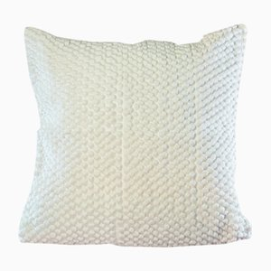White Mushroom Pillow by Nieta Atelier