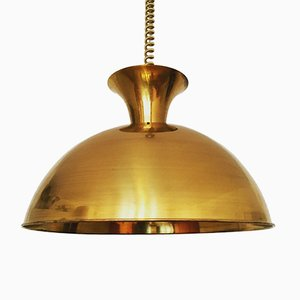 Large Brass Pendant by Florian Schulz, 1960s