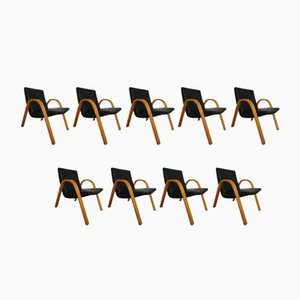 Vintage Armchairs by Hugues Steiner for Steiner, Set of 9