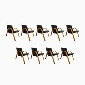 Vintage Stühle von Hugues Steiner für Steiner, 9er Set