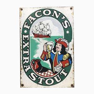 Facon's Extra Stout Schild aus Zinn von Neuhaus, 1950er