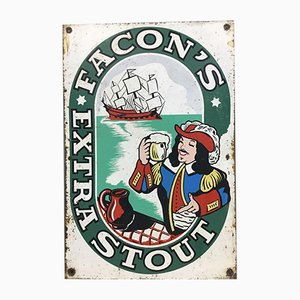 Facon's Extra Stout Tin Sign from Neuhaus, 1950s