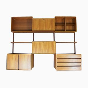 Mid-Century Danish Royal System Teak Wall Unit System by Poul Cadovius for Cado, 1960s