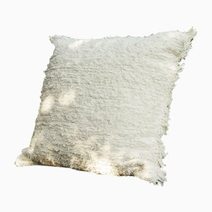 Natural Furry Wings Pillow by R & U Atelier