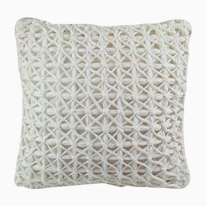 White Webbiecomb Pillow by Nieta Atelier