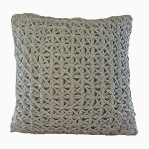 Grey Webbiecomb Pillow by Nieta Atelier
