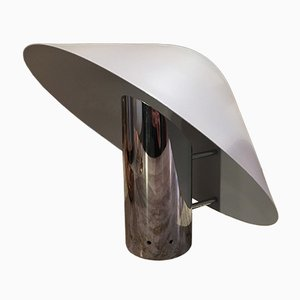 Lámparas de mesa vintage de metal cromado, años 70. Juego de 2