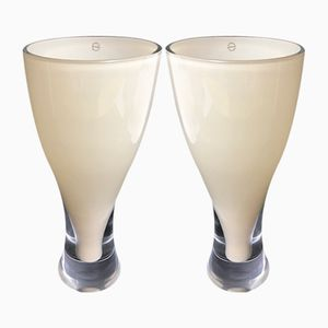 Murano Glass Vases from Salviati, 1990s, Set of 2