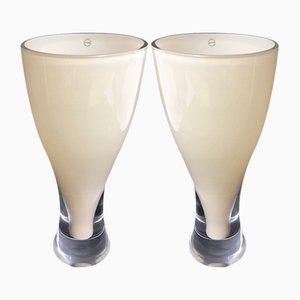 Vase en Verre de Murano de Salviati, 1990s, Set de 2
