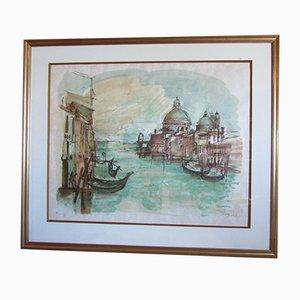 Lithographie de Venise Vintage 8 Couleurs par Jean Pradel