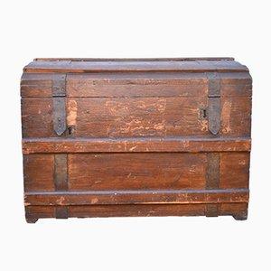 Baule da viaggio in legno e tela, anni '20