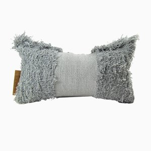 Grey Furry Pillow by Nieta Atelier
