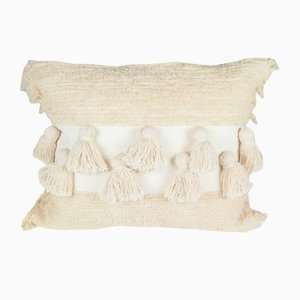 Natural Tassel Furry Pillow by Nieta Atelier