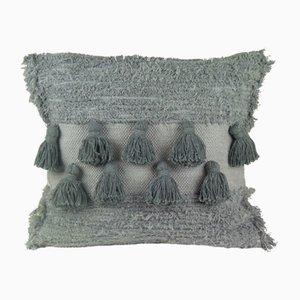 Graues Tassel Furry Kissen von Nieta Atelier