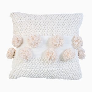 White Pompom Mushroom Pillow by R & U Atelier