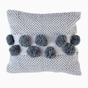 Grey Pompom Mushroom Pillow by Nieta Atelier