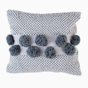 Grey Pompom Mushroom Pillow by R & U Atelier