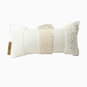White Furry Mushroom Range Pillow by Nieta Atelier