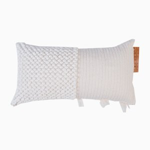 White Cross Pillow by Nieta Atelier