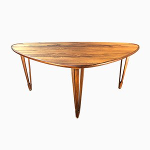 Danish Mid-Century Rosewood Coffee Table from B.C Mobler, 1950s