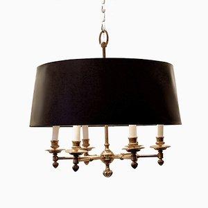 Lámpara de araña para velas Art Déco de latón, años 40