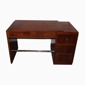 Art Deco Rosewood Desk by Jules Leleu, 1940s