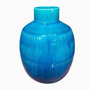 Blaue Vintage Vase von Herta Bengtsson für Rörstrand