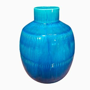 Vintage Blue Vase by Herta Bengtsson for Rörstrand