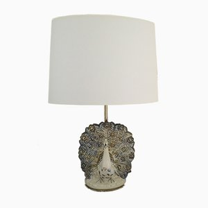 Lampe Paon Vintage en Céramique, 1970s