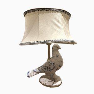 Lámpara de mesa vintage en forma de pájaro de cerámica, años 70