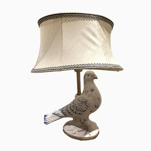 Vintage Tischlampe aus Keramik in Vogel-Optik, 1970er