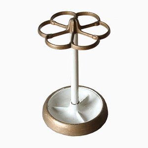 Mid-Century Metal Umbrella Stand, 1940s